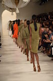 NEW YORK, NY - SEPTEMBER 11: Models walk the runway finale at Ralph Lauren fashion show Royalty Free Stock Images