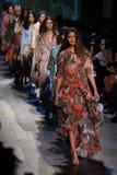 Models walk the runway finale wearing Vivienne Tam Spring 2018. NEW YORK, NY - SEPTEMBER 10: Models walk the runway finale wearing Vivienne Tam Spring 2018 stock photos