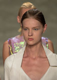 NEW YORK, NY - SEPTEMBER 06: Models walk the runway at the Son Jung Wan Spring 2015 fashion show Royalty Free Stock Photo