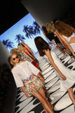 NEW YORK, NY - SEPTEMBER 05: Models walks the runway at Nicole Miller Spring 2015 fashion show Stock Photo