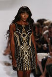 NEW YORK, NY - SEPTEMBER 08: Naomi Campbell walks the runway during the Diane Von Furstenberg fashion show Royalty Free Stock Image