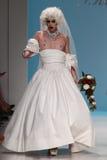 NEW YORK, NY - SEPTEMBER 10: Sharon Needles walks the runway at the Betsey Johnson fashion show Royalty Free Stock Image