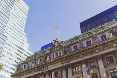 Detail of the Custom House in lower Manhattan Royalty Free Stock Photos