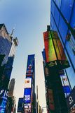 Detail of Times Square in Manhattan Stock Photography