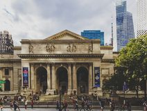 View of the New York Public Library in Manhattan Stock Image