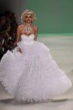 NEW YORK, NY - SEPTEMBER 10: TV personality Kristen Taekman walks the runway at Betsey Johnson Royalty Free Stock Photo