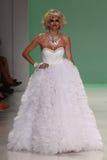 NEW YORK, NY - SEPTEMBER 10: TV personality Kristen Taekman walks the runway at Betsey Johnson Royalty Free Stock Images