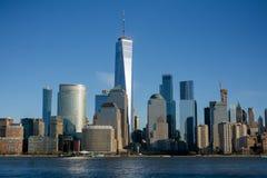 New York, NY/unido Estado-janeiro 11, 2019: opinião da paisagem de New York City do centro ' imagens de stock royalty free