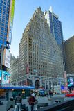 New York, NY / United States - Feb. 26, 2019: Vertical view of landmark building, 1501 Broadway, also know as the Paramount royalty free stock images