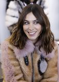 Noon by Noor FW 2018. New York, NY, USA - February 8, 2018: Alexa Chung attends the front row for Noon by Noor during New York Fashion Week at Spring Studios royalty free stock photo