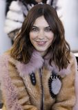 Noon by Noor FW 2018. New York, NY, USA - February 8, 2018: Alexa Chung attends the front row for Noon by Noor during New York Fashion Week at Spring Studios royalty free stock photos
