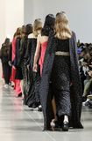 Noon by Noor FW 2018. New York, NY, USA - February 8, 2018: Models walk runway for the Noon by Noor Fall/Winter 2018 runway show during New York Fashion Week at stock images