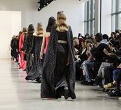 Noon by Noor FW 2018. New York, NY, USA - February 8, 2018: Models walk runway for the Noon by Noor Fall/Winter 2018 runway show during New York Fashion Week at stock photo
