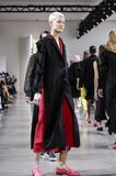 Noon by Noor FW 2018. New York, NY, USA - February 8, 2018: Models walk runway for the Noon by Noor Fall/Winter 2018 runway show during New York Fashion Week at stock photography