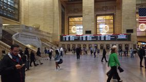 New York, NY, USA. Grand Central Station. Indoor views of the main concourse stock video