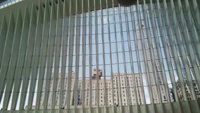 New York NY, USA Inre av World Trade Centertrans.navet En station av banadreven arkivfilmer