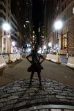 New York NY /USA - November 23, 2018: Oförskräckt flicka royaltyfria foton