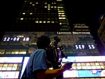 New York, NY, USA - September 15, 2008: Lehman Brothers, September 15, 2008 Stock Images