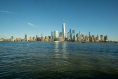 New York, NY/vereinigt Zustand-Jan. 11, Weitwinkelansicht 2019 von unterem Manhattan stockbilder