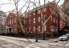 New York, NY/Vereinigte Staaten - Mrz 24 2019: Landschaftsansicht des Freund-Priesterseminars, die älteste ununterbrochen koeduka stockfotos