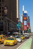 Yellow cabs at Times Square ,Midtown Manhattan. Stock Photography