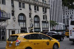 New York, o 2 de julho: Construção histórica no Midtown Manhattan de New York City no Estados Unidos Imagens de Stock