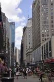 New York, o 2 de julho: Herald Square no Midtown Manhattan de New York City no Estados Unidos Foto de Stock