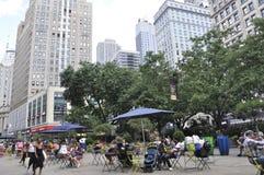 New York, o 2 de julho: Herald Square no Midtown Manhattan de New York City no Estados Unidos Fotografia de Stock