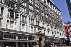 New York, o 2 de julho: Loja do ` s de Macy de Herald Square no Midtown Manhattan de New York City no Estados Unidos Imagem de Stock