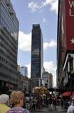 New York, o 2 de julho: Opinião da rua no Midtown Manhattan de New York City no Estados Unidos Foto de Stock