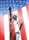 New York och amerikanskt symbol Royaltyfria Bilder