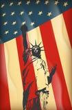 New York och amerikanskt symbol Arkivfoto