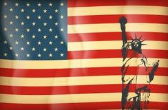 New York och amerikanskt symbol Arkivbilder