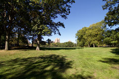 NEW YORK - October 14, 2016 Central Park in early autumn, 28 deg. Rees Royalty Free Stock Photography