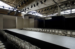 NEW YORK- OCTOBER 16: Empty runway for Claire Pettibone bridal show for Fall 2013 during NY Bridal Fashion Week Royalty Free Stock Photography
