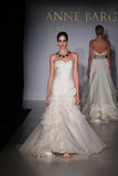 NEW YORK - OCTOBER 17: Model walking runway at the Anne Barge Bridal Collection Stock Image
