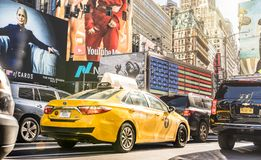 Rush hour and traffic jam in New York City royalty free stock image