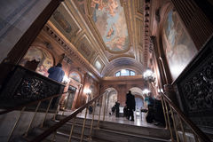 New York offentligt bibliotek målat tak Arkivbilder