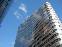 New York office block. Viewed from below Stock Photo