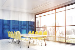 New York office interior with blue wall Stock Photography