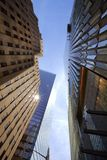New York Offices Buildings from the lower view royalty free stock photography