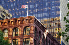 New York - Old and new buildings Royalty Free Stock Photo