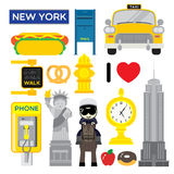 New York, one of the most popular metropolis in the world Royalty Free Stock Image