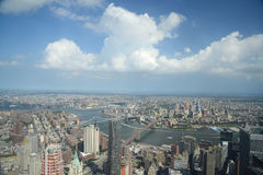 New york from one world tower Royalty Free Stock Images