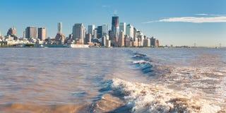 New York op de horizon Stock Afbeelding