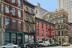 New York, oude flatgebouwen Royalty-vrije Stock Foto