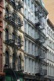 New York, oude flatgebouwen Royalty-vrije Stock Afbeeldingen