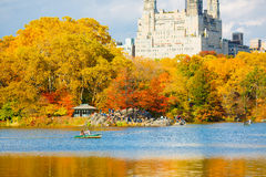 New York outdoors. Fall autumn Royalty Free Stock Image