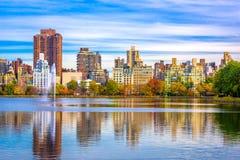 New York New York på Central Park royaltyfri bild