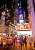 New York på nätterna Arkivfoton